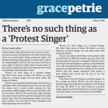 Theres No Such Thing as a Protest Singer
